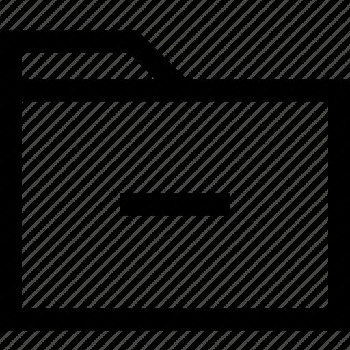file, folder, negative icon