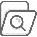archive, folder, office, search icon