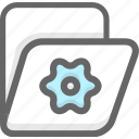 archive, document, folder, office icon