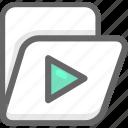 archive, folder, movie, office icon