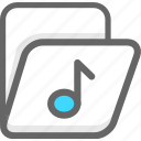 archive, folder, music, office icon