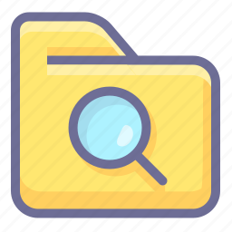 archive, folder, search folder icon