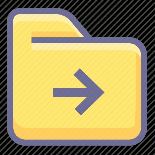 archive, folder, next folder icon