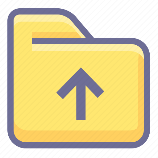 archive, folder, up folder icon
