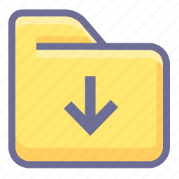 archive, download, folder icon