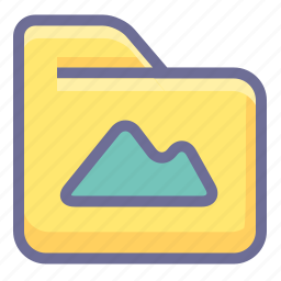 archive, folder, image folder icon
