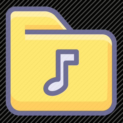 folder, media folder, multimedia folder, music folder icon