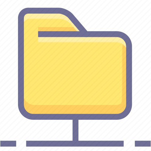 archive, folder, network folder icon