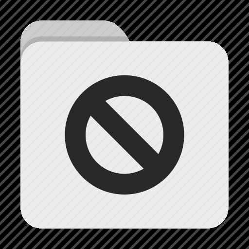 Denied, folder, ui icon - Download on Iconfinder