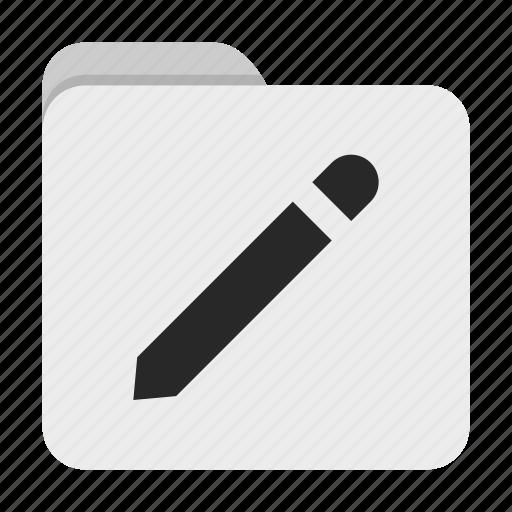 folder, pencil, ui icon