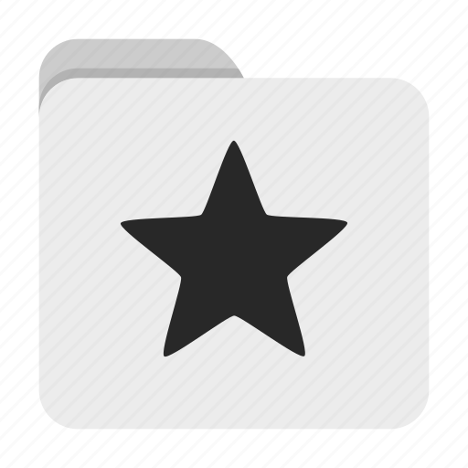 folder, star, ui icon