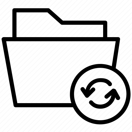 arrows, folder, refresh, reload, sync icon