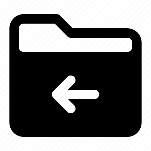 arrow, document, file, folder, left icon
