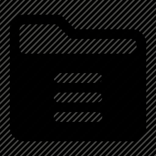 document, file, folder, menu icon