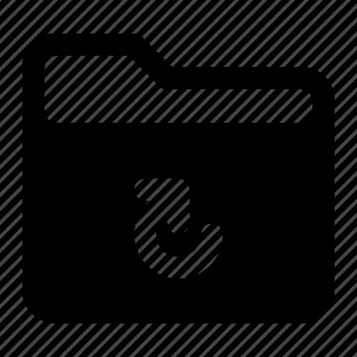 document, file, folder, refresh icon