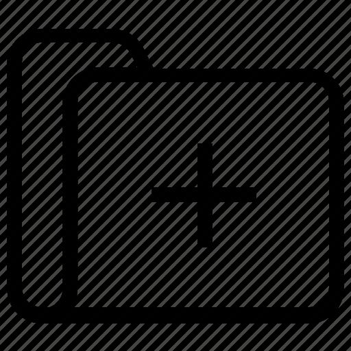 add, file, folder, new icon