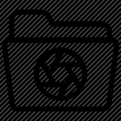 camera, file, folder icon
