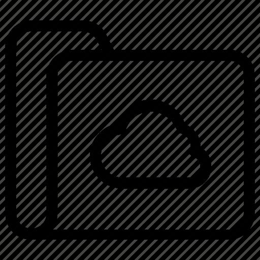 cloud, file, folder icon