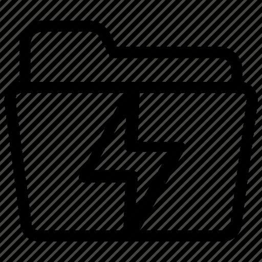 electricity, file, folder icon