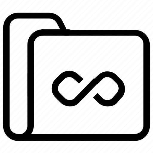 file, folder, infinity, loop icon
