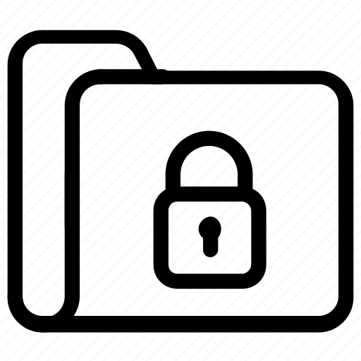 file, folder, lock icon