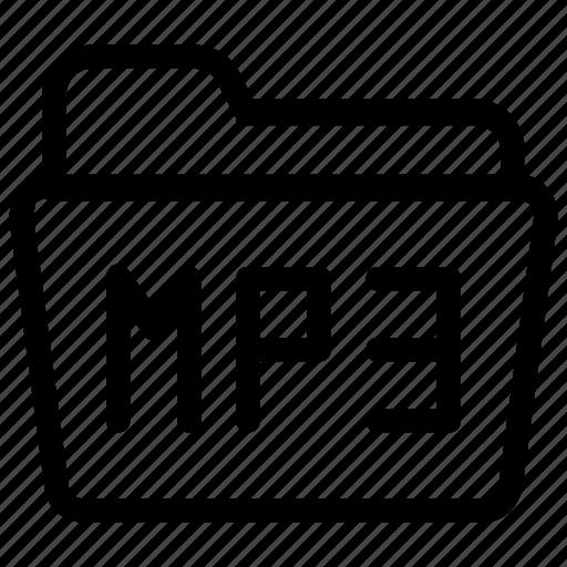 audio, file, folder, mp3 icon