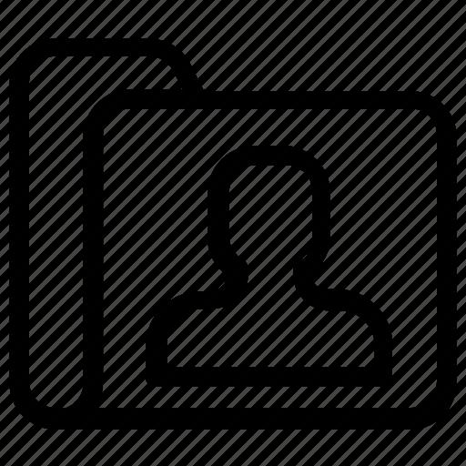File, folder, user icon - Download on Iconfinder