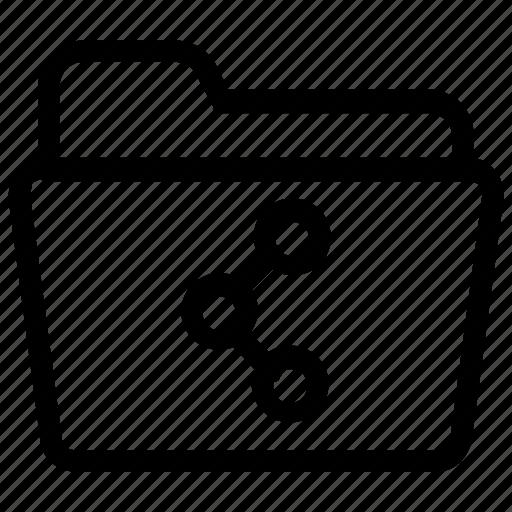 file, folder, share icon