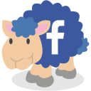 facebook, sheep, social network icon