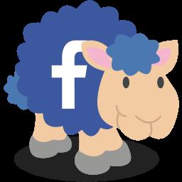 facebook, sheep, social network icon