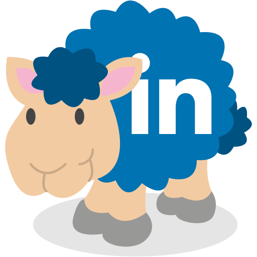 linkedin, sheep, social network icon
