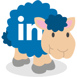 linkedin, sheep, social network icon