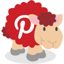 pinterest, sheep, social network icon
