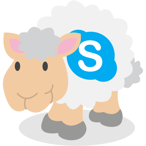sheep, skype, social network icon