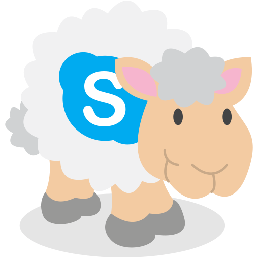 sheep, skype, social network icon