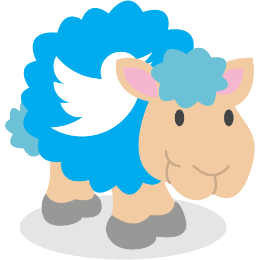 sheep, social network, twitter icon