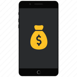 earn money smartphone, make money on phone, mobile money, money, phone money icon