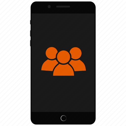 conferencing, mobile community, mobile contacts, people icon