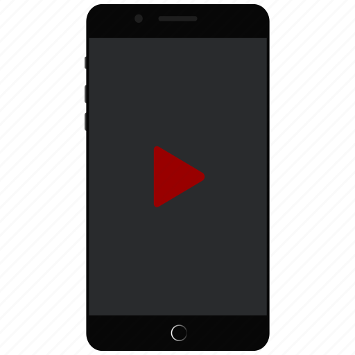 mobile video, play mobile, play video, smartphone video, youtube icon