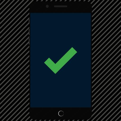 correct phone, phone, select phone, tick icon