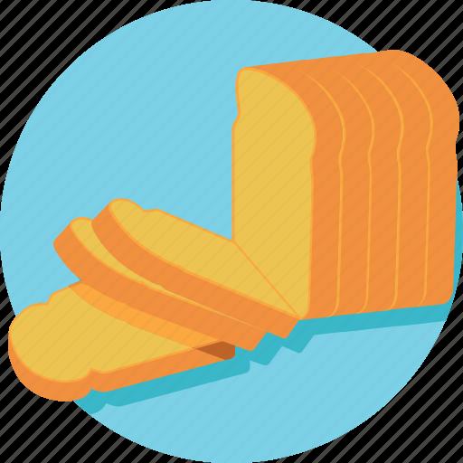 bakery, bread, bread loaf, breakfast, wheat food icon