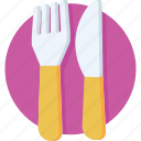 dining, eating, fork, knife, restaurant icon