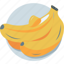 banana, food, fruit, healthy diet, organic icon