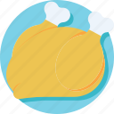 chicken, grilled food, meat, roast, turkey roast icon