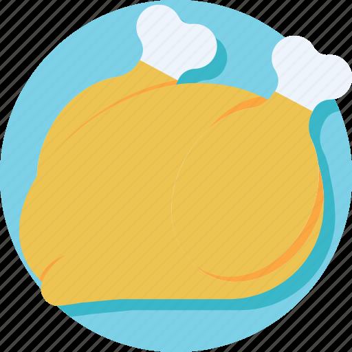 chicken, grilled food, meat, roast, turkey roast icon