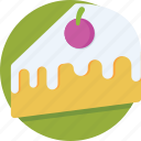 bakery, cake piece, dessert, pudding cake, sweet icon