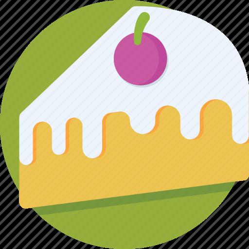 bakery, cake piece, dessert, pudding cake, sweet icon