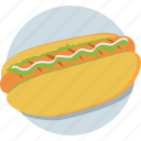 fast food, hotdog, junk food, sandwich, sausage icon
