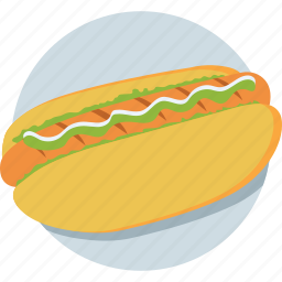 fast food, hotdog, junk food, sandwich, sausage icon