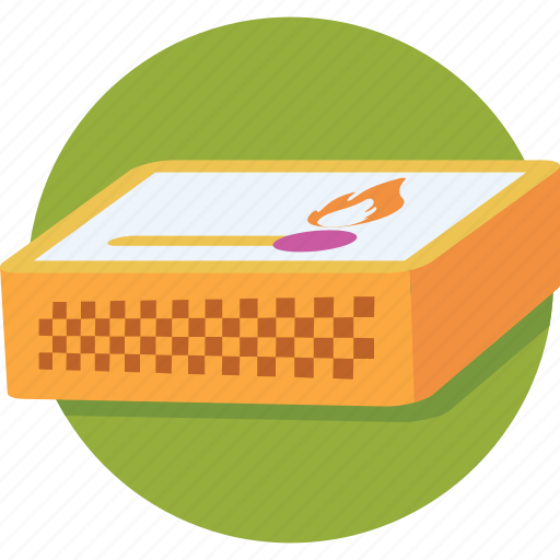 fire, kitchen tool, match fire, matchbox, matches icon